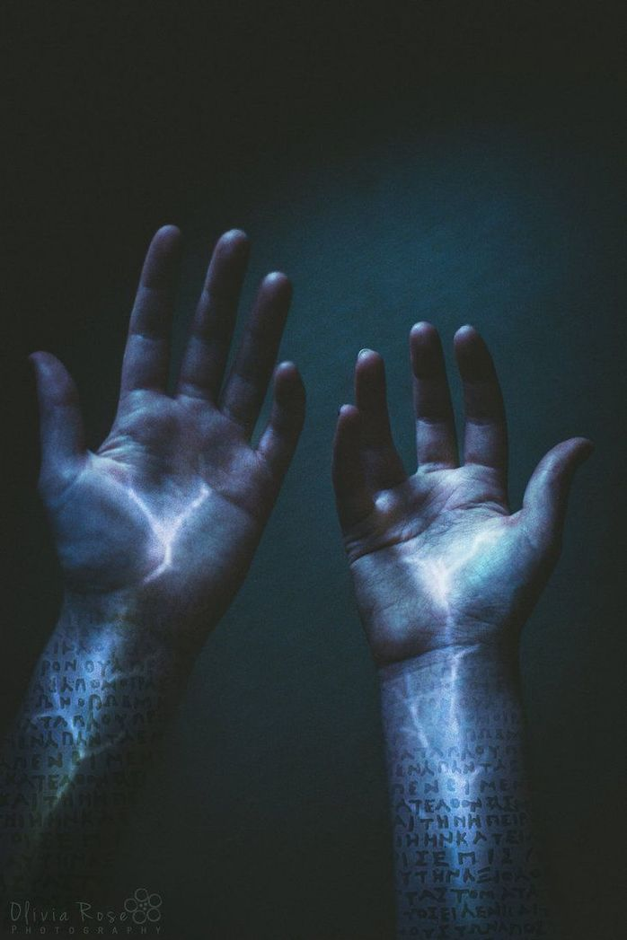 electricity, hands, light