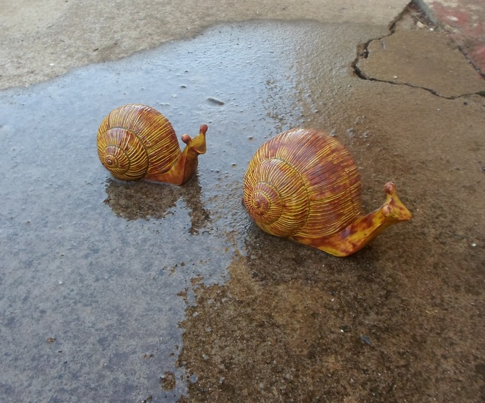 Two Snail Ornaments